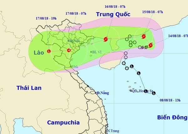 베빈카 태풍, 베트남 꽝닌 성에서 남딘 성까지 상륙 가능 - ảnh 1