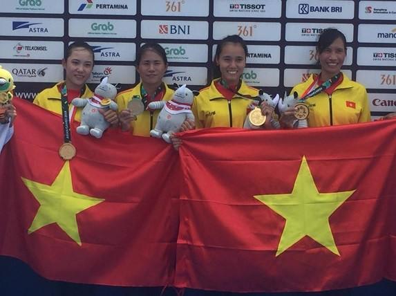 ASIAD 2018 : 베트남  - 메달 랭킹 13 위로 급상 - ảnh 1