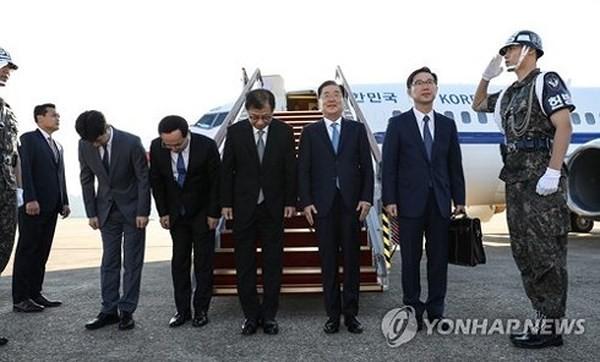 한국 대표단, 북한 지도층 회견 - ảnh 1