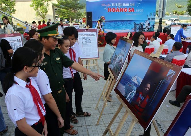 다낭 시 : 황사 섬에 대한 보도 자료 전시회 - ảnh 1