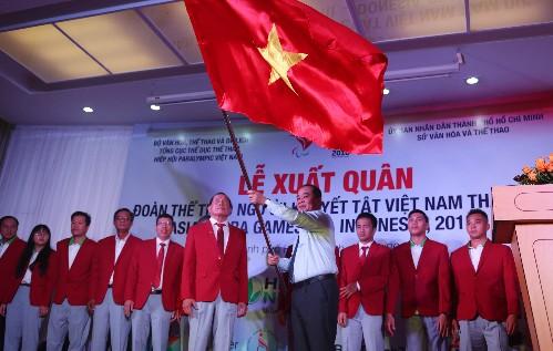 베트남 장애인 체육대표단, 2018년 아시아 장애인 체육대회 참여 - ảnh 1