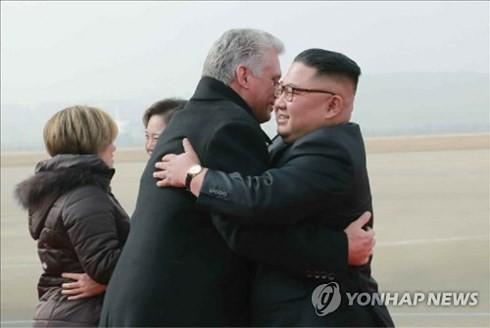조선과 쿠바 지도자들, 중요 문제 논의 - ảnh 1