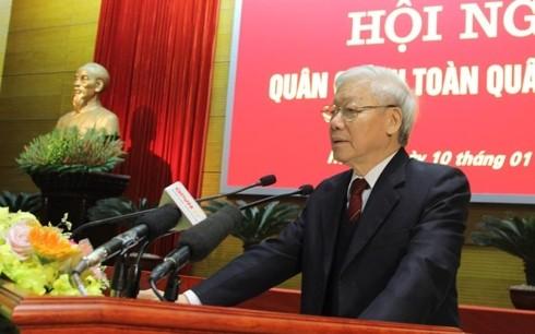 응웬 푸 쫑 (Nguyễn Phú Trọng) 총서기장-국가주석, 2018년 전국군정회의 참가 - ảnh 1