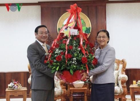 베트남 당정 지도자, 라오스 설을 맞아 라오스 당정 지도자에게 축하인사 전달 - ảnh 1