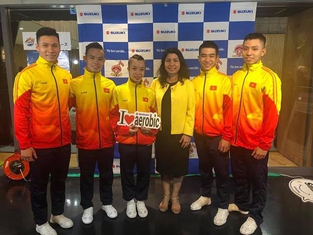 베트남 선수들, 2019 에어로빅체조월드컵대회에서 3 개의 금메달 획득 - ảnh 1