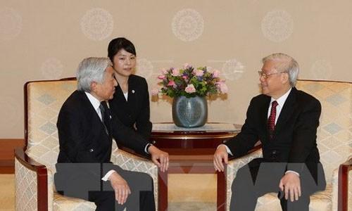 응우옌 푸 쫑 베트남 서기장-국가주석, 아키히토 일본 상황에게 서한 보내 - ảnh 1