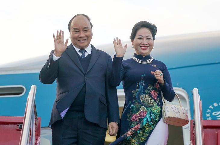 응우옌 쑤언 푹 총리 부부, 노르웨이 공식방문 성공적 마무리 - ảnh 1