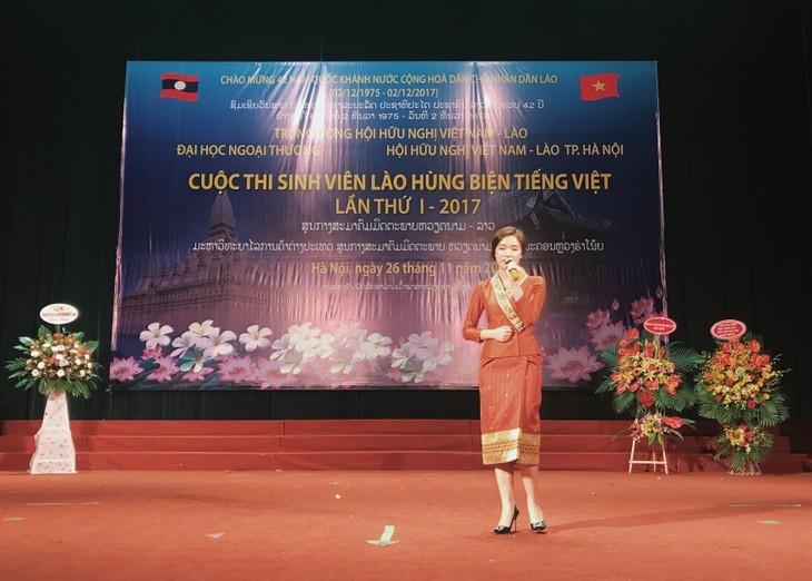 Cuộc thi hùng biện tiếng Việt – cầu nối hữu nghị hai nước Việt - Lào - ảnh 3