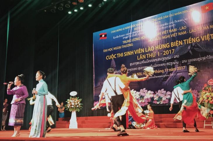 Cuộc thi hùng biện tiếng Việt – cầu nối hữu nghị hai nước Việt - Lào - ảnh 1
