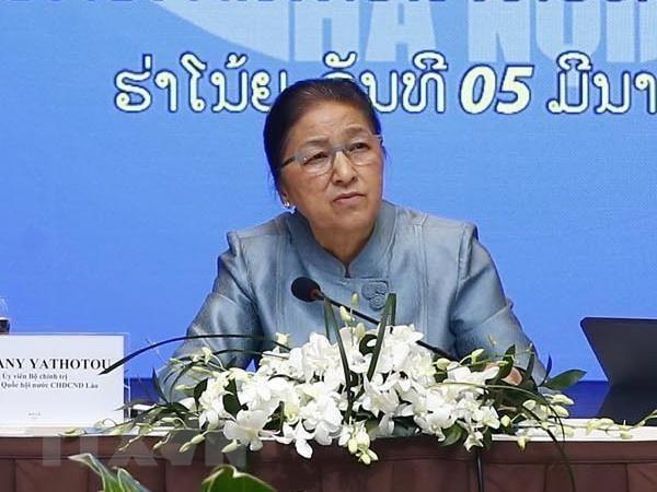 Chủ tịch Quốc Lào tham quan mô hình kinh tế tập đoàn tại Việt Nam - ảnh 1