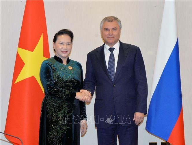 Chủ tịch Quốc hội Nguyễn Thị Kim Ngân hội kiến Chủ tịch Đuma Quốc gia Nga Vyacheslav Volodin - ảnh 1