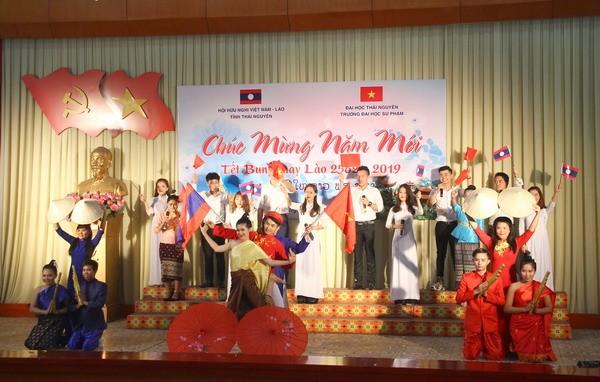Tổ chức đón Tết Bunpimay cho lưu học sinh Lào - ảnh 1