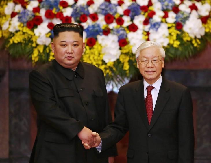 Tổng Bí thư, Chủ tịch nước Nguyễn Phú Trọng chúc mừng nhà lãnh đạo Triều Tiên Kim Jong Un - ảnh 1