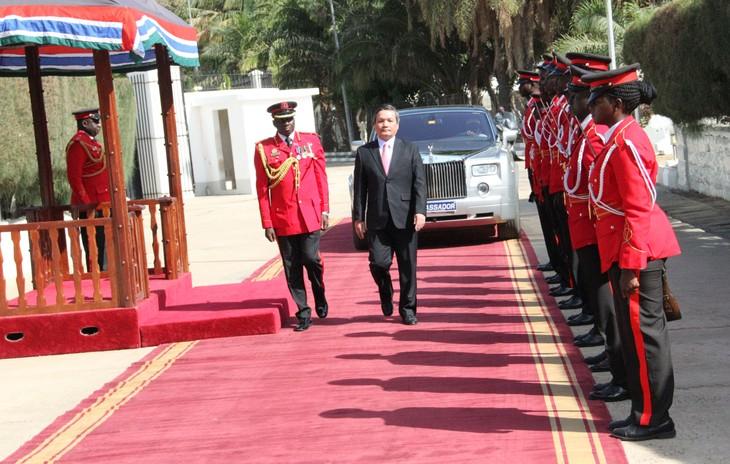 Đại sứ Việt Nam tại Gambia trình Quốc thư - ảnh 2