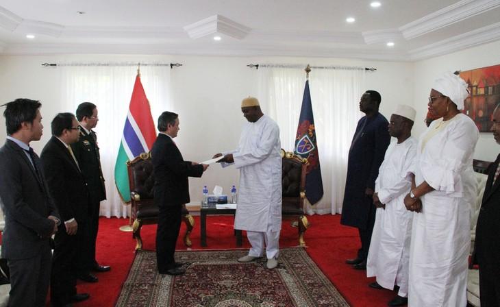 Đại sứ Việt Nam tại Gambia trình Quốc thư - ảnh 3