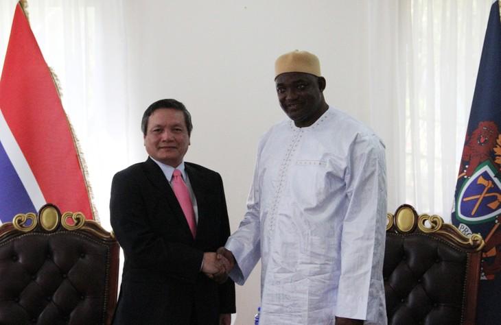 Đại sứ Việt Nam tại Gambia trình Quốc thư - ảnh 5