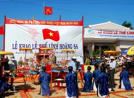 Huyện đảo Lý Sơn tổ chức Lễ Khao lề thế lính Hoàng Sa - ảnh 1