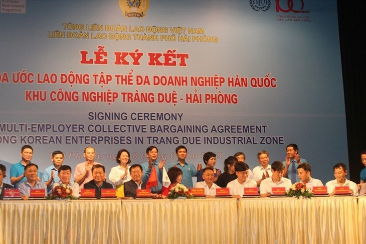 19 đơn vị tham gia ký kết thỏa ước lao động tập thể đa doanh nghiệp Hàn Quốc - ảnh 1