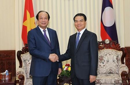 Tăng cường hợp tác giữa hai Văn phòng Chính phủ Việt Nam và Lào - ảnh 1