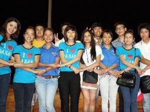 Rombongan  Perkemahan Musim Panas Vietnam-2013  mengadakan temu pertukaran dengan kaum pemuda kota Da Nang. - ảnh 1