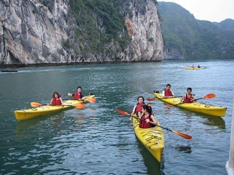 Penjelasan tentang olahraga mengayuh kayak di Vietnam - ảnh 2