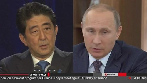 PM Jepang dan Rusia melakukan pembicaraan via telepon tentang masalah yang menjadi minat bersama - ảnh 1