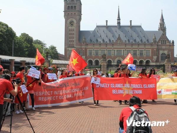 Вьетнамская диаспора за границей продолжает выступать с протестом против Китая - ảnh 2