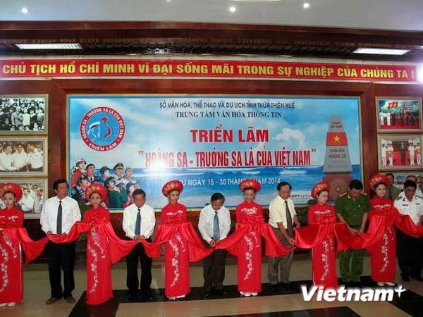 В провинции Тхыатхиен-Хюэ открылась выставка «Хоангша и Чыонгша принадлежат Вьетнаму» - ảnh 1