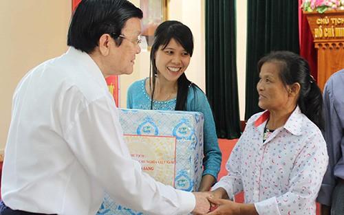 Президент СРВ Чыонг Тан Шанг посетил город Хайфон - ảnh 1