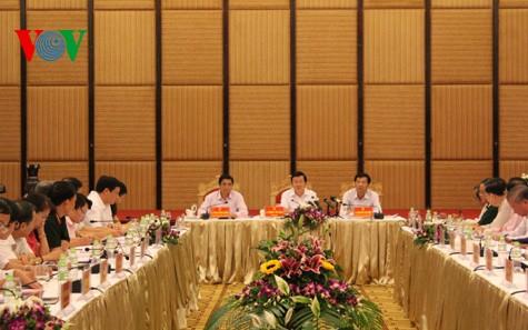 Президент СРВ Чыонг Тан Шанг посетил провинцию Куангнинь - ảnh 1