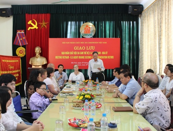 В Ханое прошла встреча между вьетнамскими и американскими жертвами дефолианта «эйджент-орандж» - ảnh 1