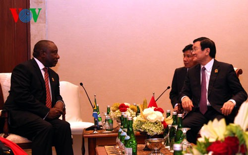 Президент СРВ Чыонг Тан Шанг провёл двусторонние встречи на полях саммита стран Азии и Африки - ảnh 1