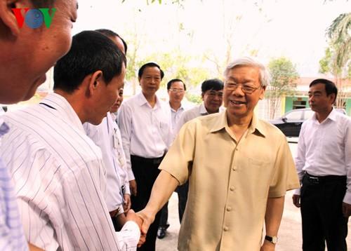 Генсек ЦК КПВ Нгуен Фу Чонг совершил рабочую поездку в провинцию Лангшон - ảnh 1