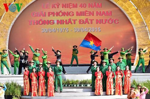 НгуенТан Зунг принял участие в праздновании Дня воссоединения страны в Хаузянге и Кантхо - ảnh 2