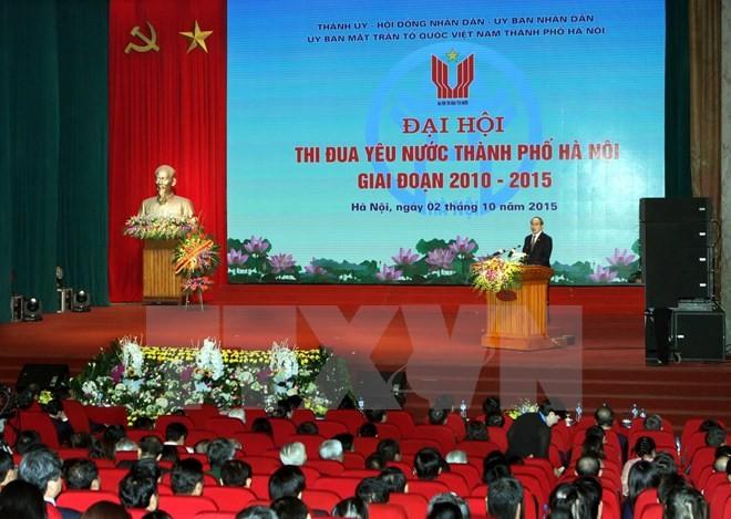 В Ханое прошел съезд патриотических соревнований в период 2010-2015 гг. - ảnh 1
