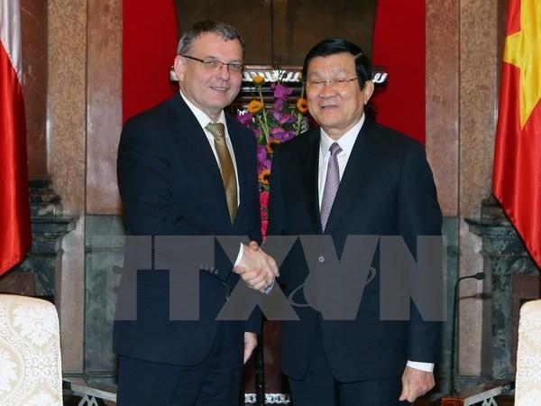 Президент СРВ: Вьетнам и Чехия должны укреплять взаимопонимание - ảnh 1