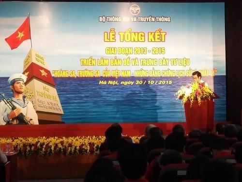 Подведены игоги выставок, посвященных архипелегам Хоангша и Чыонгша в 2013-2015 гг. - ảnh 1