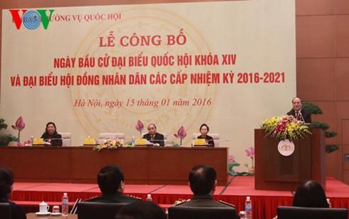 Во Вьетнаме обнародован день выборов в Национальное собрание 14-го созыва - ảnh 1