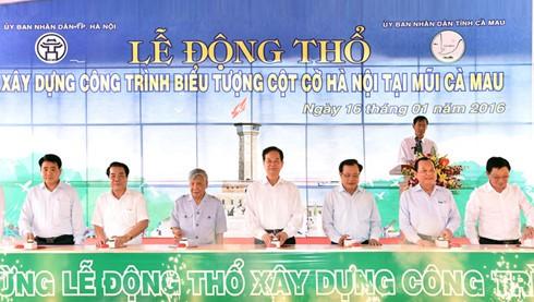 Премьер Вьетнама принял участие в церемонии введения в эксплуатацию моста в провинции Камау - ảnh 2
