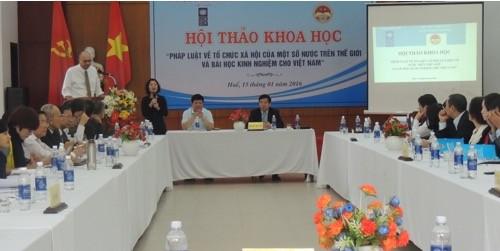 Во Вьетнаме проводится опрос общественного мнения по проекту Закона об обществах - ảnh 1