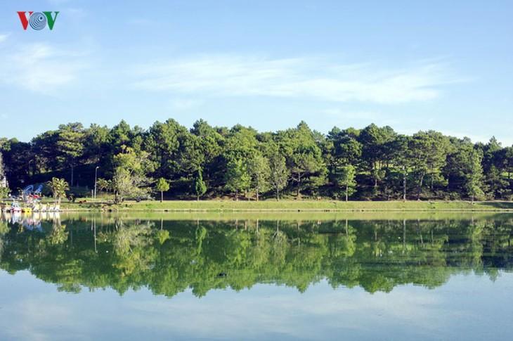 Поэтичное озеро Суан Хыонг в Далате - ảnh 2