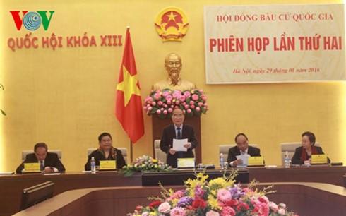 В Ханое прошло второе заседание Национального избирательного совета - ảnh 1
