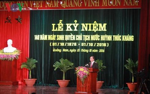 Во Вьетнаме отмечается 140-летие со дня рождения и.о. президента Хуинь Тхук Кханга - ảnh 1