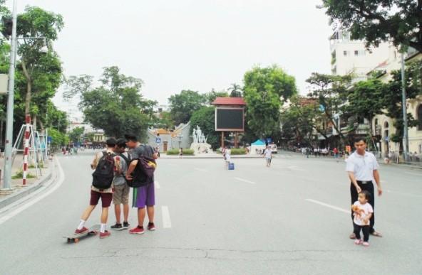 Пешеходное пространство в Ханое - ảnh 8