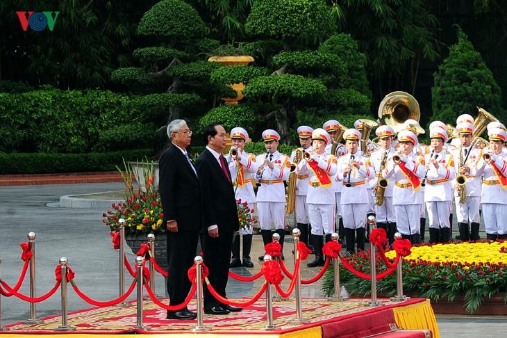 Президенты Вьетнама и Мьянмы провели переговоры - ảnh 1
