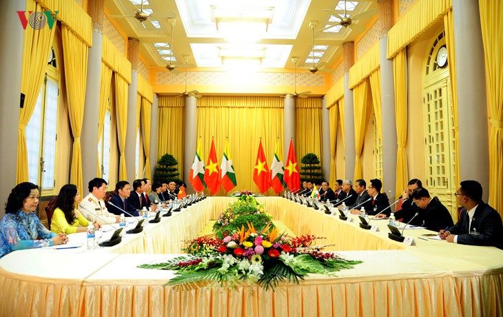 Президенты Вьетнама и Мьянмы провели переговоры - ảnh 2