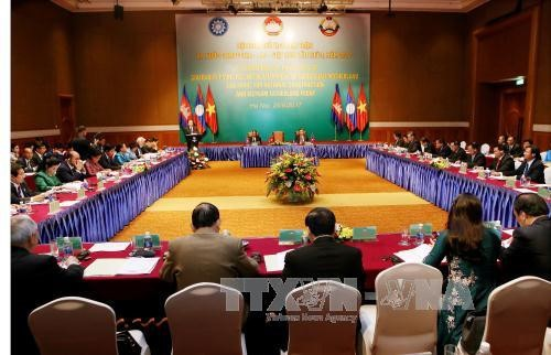 В Ханое прошла 3-я конференция глав Отечественных фронтов Вьетнама, Лаоса и Камбоджи - ảnh 1