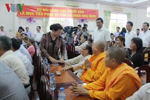 Нгуен Тхи Ким Нган встретилась с избирателями в уезде Виньтхань города Кантхо - ảnh 1