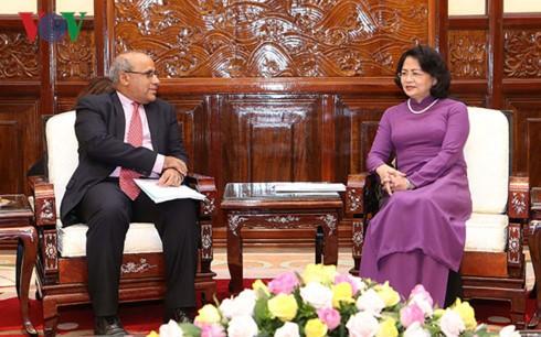 Данг Тхи Нгок Тхинь приняла главу представительства ЮНИСЕФ во Вьетнаме - ảnh 1