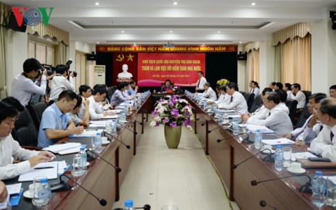 Нгуен Тхи Ким Нган провела рабочую встречу с руководством Вьетнамского аудита - ảnh 1